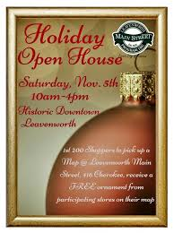 christmas open house flyer upcoming events holiday open house leavenworth main street