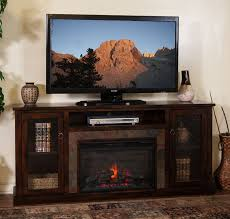 rustic electric fireplace tv stand sd 3488dc 70r 70 santa fe rustic birch fireplace tv stand