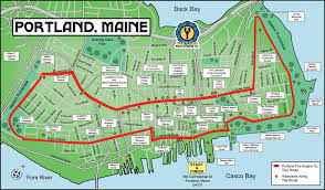 maps update  portland maine tourist attractions map
