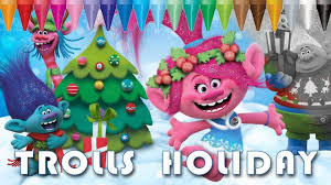 Trolls Holiday Color Christmas Coloring Pages Kids Coloring Book