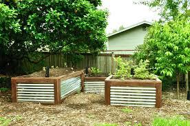 galvanized raised garden bed galvanized steel