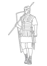 Ancient Rome Soldier Coloring Page A Typical Roman Best Free