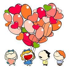 kids valentines day background. Set Of Images Funny Kids On White Background 15 Day Theme Valentines
