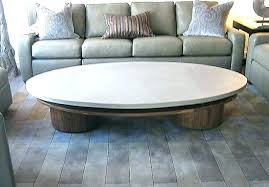 round concrete coffee table for