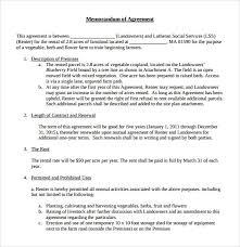 Lease Agreement Format Sample Memorandum Of Lease Agreement 9 Free Documents In