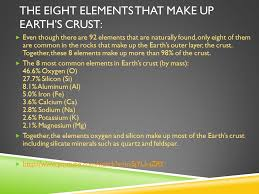 the eight elements that make up earth s crust