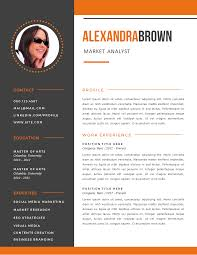 Burnt Orange Resume Examples Sample Resume Templates Sample