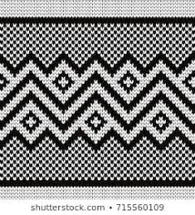 Knitted Geometric Seamless Border Cross Stitch Geometric