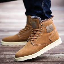 man warm boots suede leather martin ankle boots for men england style male snow boots thicken plush mens winter boots retail shoes for women desert boots