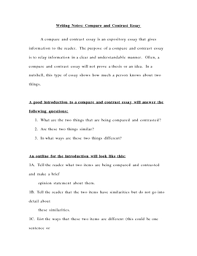 Outline Of Compare And Contrast Essay Sample Outline Of A Compare And Contrast Essay Www