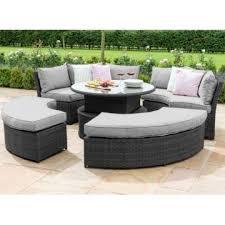 dallas sofa dining set grey flat weave