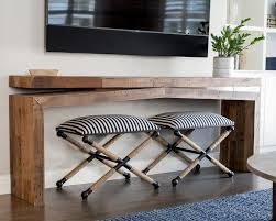 console table under window design ideas