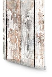 old shabby wooden planks wallpaper roll