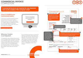 Commercial Invoice Completing Commercial Invoices Customs Requirements Tnt Direct