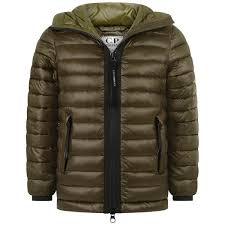 Kids Designer Coats C P Company Boys Khaki Puffer Jacket Boys Designer Coats