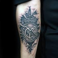 60 Real Madrid Tattoo Designs For Men Soccer Ink Ideas