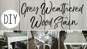 diy grey weathered wood stain
