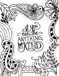 Kindness Coloring Pages Printable Kindness Quotes Coloring Pages