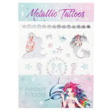 Metalické Tetování Fantasy Model Mořská Panna S Delfínem Baby Zone