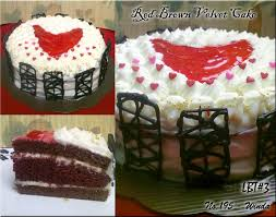 Lbt3 Red Brown Velvet Cake Gulanyagulali