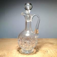 vintage wine decanter cut glass made in italy