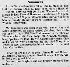 Obituary for Archie Vernon Summers (Aged 73) - Newspapers.com