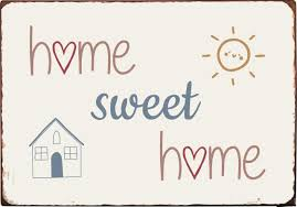 Metallschild Home Sweet Home von Ib Laursen günstig bestellen
