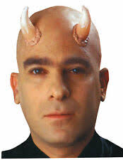 latex horns prosthetic demon devil costume makeup appliance fa228