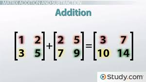 matrix notation equal matrices math operations with matrices