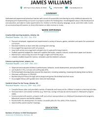 Early Childhood Education Resume Objective College Pinterest In For