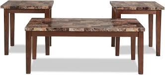 accent and occasional furniture adelaide coffee table and 2 end tables warm brown with