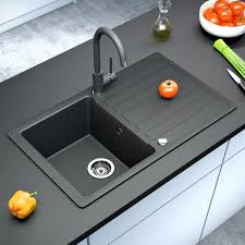 Black Kitchen Sink Bergstroem Granite Kitchen Built In Sink Reversible 765x460 Black