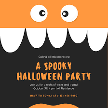 Blank Halloween Invitation Templates Childrens Halloween Invitations Ahmedmouici Xyz
