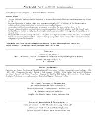 Objective For Education Resume Physical Education Resume Samples