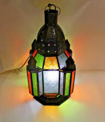 moroccan style lighting. Image Is Loading Lamp-Moroccan-Style-Light-Fixture-Colored-Stained-Glass- Moroccan Style Lighting I