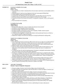 catering manager resume catering manager resume samples velvet jobs