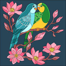 Glass Painting Designs For Wall Hanging Pdf Loving Birds Glass Painting Designs Coloring Book App