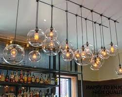 hanging edison bulbs satellite chandeliers vintage wrought iron pendant light spherical spider lamp