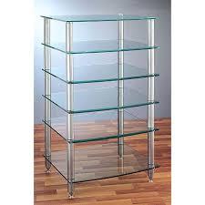 6 shelf audio rack with glass shelves