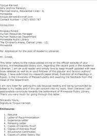 Cover Letter For College Job Sample Academic Job Cover Letter Sample
