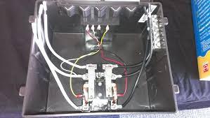 go power 30 amp transfer switch inside the transfer switch case