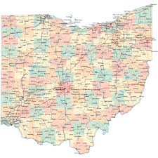 ohio road map  oh road map  ohio roads and highways