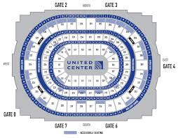 Chicago United Center Concert Seating Chart Accessibility Guide Venue Information United Center