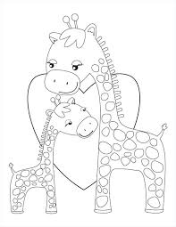 Baby Giraffe Coloring Page Pages Printable Alellajoveinfo