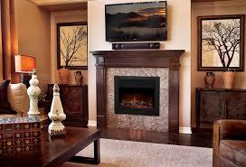 com xtremepowerus 28 5 1500w 5200btu embedded electric fireplace insert heater w remote control home kitchen