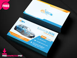 Namecard Format Free Rent A Car Business Card Template By Free Download Psd