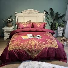 details about 100 pima cotton bedding set 4pcs embroidered duvet set 2 pillowcases 100s