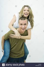 Blonde teen couple ride