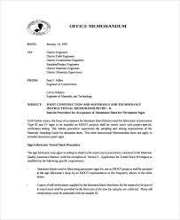 Memorandum Samples Templates Sample Office Memo Template 12 Free Documents Download In