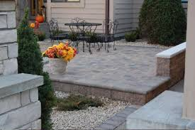 Raised paver patio Concrete Design Install Paver Area Raised Paver Patios And Walks